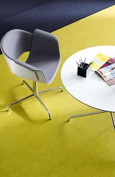Tilo Coloro Linoleum Lime Lackiert Ambiente